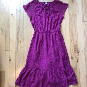 Old Navy Lilac Dress with Croquet Sleeves Size M